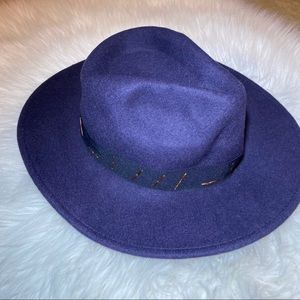 Navy blue rancher wool hat